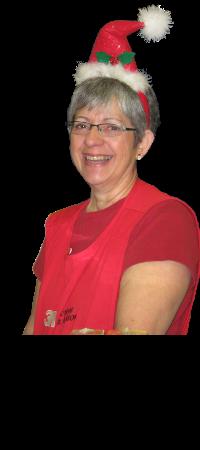 Cheryl Leyes, Lead Toy Volunteer at Hamper Program
